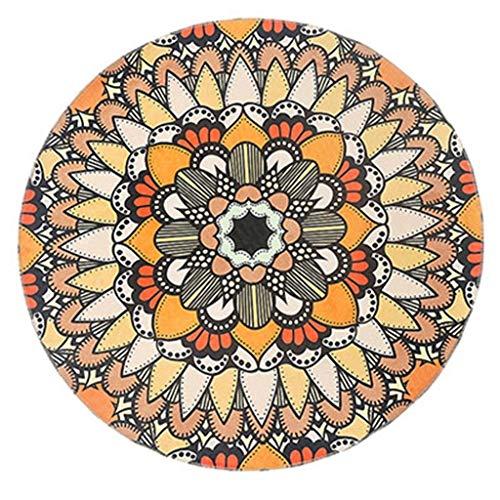 Woondecoratie Scandinavische stijl, ronde tapijt, voor slaapkamer, nachtkastje, hangmat, tapijt, bank, tapijt, antislip, oranje, 150 cm Diameter 200CM Oranje