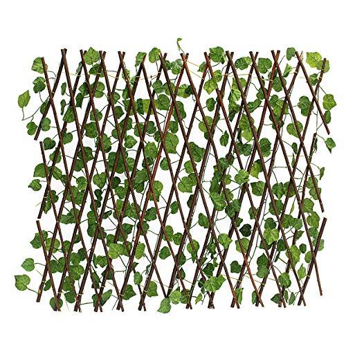 Guiping Deko Künstliche Windschutz Blätter Zaunwand Garten Terrasse Efeu Trennwand Dekoration