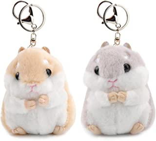 Women Hamster Plush Keychain,4.7