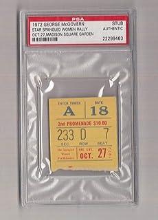 1972 George McGovern Star Spangled Womens Rally Ticket/Pass PSA 22299463