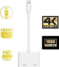 【2020版】iPhone HDMI 変換 アダプタ ライトニング digital avアダプタ 設定不要 接続ケーブ Lightning HDMI ケーブル スマホ 高解像度 操作不要 ゲーム TV視聴 iPhoneX/XR/XS/XS Max/8/8plus/7/7plus(IOS10/11/12/13対応)