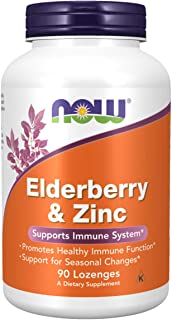 NOW Supplements, Elderberry & Zinc (Elderberry Concentrate with Zinc and Vitamin C, plus Echinacea, Propolis and Slippery ...