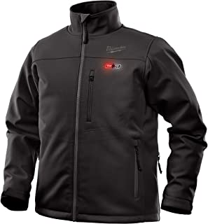 Milwaukee Jacket M12 12V Lithium-Ion Heated Front and Back Heat Zones All Sizes and Colors - Battery Not Included (Large, Black)