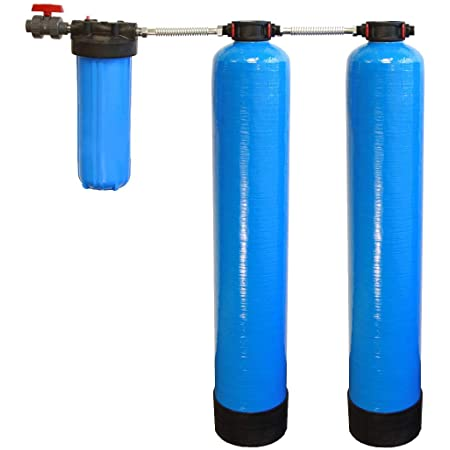 Tier1 Eco Series Whole House Water Filter System w/Salt-Free Softener - Filters Sediment & 97% Of Chlorine - Carbon & KDF Home Water Filtration