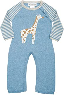 Lucky Jade Cameron Coverall Cashmere Cotton Giraffe Bodysuits for Baby Boys and Girls