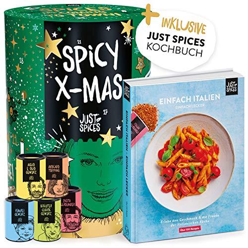 Just Spices Gewürz Adventskalender 2020 mit 24 Gewürzmischungen + italienischem Kochbuch