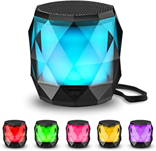 LED Bluetooth Speaker,LFS Night Light Wireless Speaker,Untra Mini Speaker,Diamond Shape Portable Wireless Bluetooth Speake...