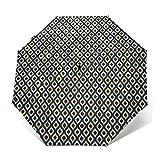 Paraguas Plegable Automático Impermeable como una Hoja elíptica, Paraguas De Viaje Compacto A Prueba De Viento, Folding Umbrella, Dosel Reforzado, Mango Ergonómico