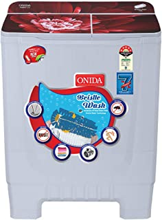 Onida 8 kg 5 Star Cuff and Collar Wash, Designer Glass Lid Semi Automatic Top Load Washing Machine  S80GSB