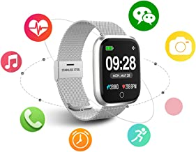 Smart watch, Q8 smart watch smart fitness watch HD smart watch screen fitness tracker with pedometer / heart rate / information notification / mobile phone notification / photo control / music control