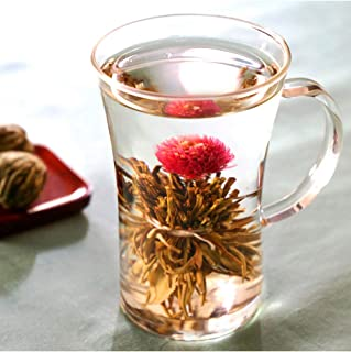 工芸茶 セット お試し 花咲くお茶 工芸茶3個 と マグカップ ゆるりセット 耐熱カップ 女性 人気 お茶&茶器