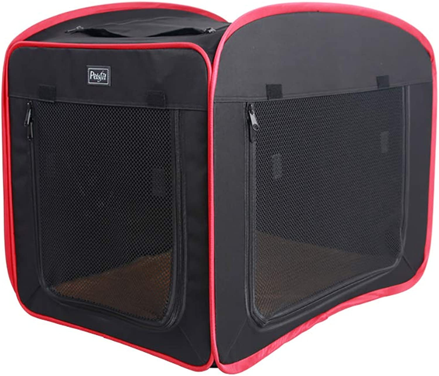 HEISHOP Dog tents, dog kennels, cat kennels, washable, carborne dog and cat supplies for all seasons,Black,S
