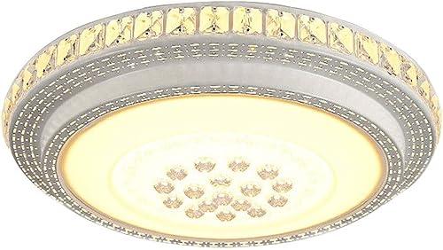 Wandun LED Moderne Plafonnier, Circulaire Plafonniers de Bureau Acrylique luminaire Plafond Décoration en Cristal Salon Cuisine Chambre Bureau éclairage Intérieur Eclairage de Plafond