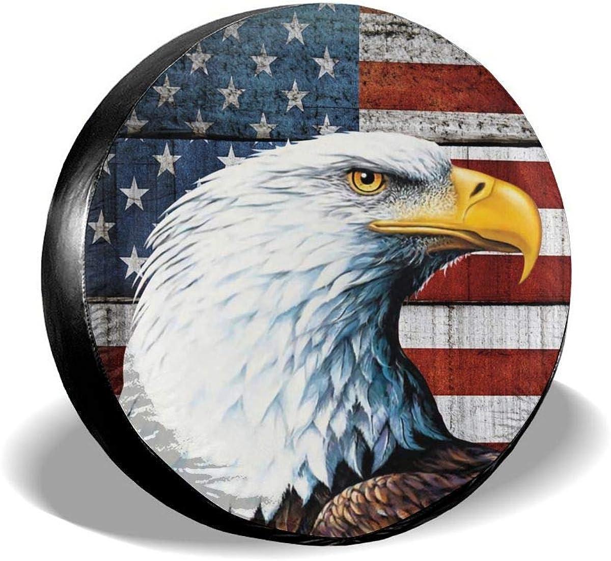 YZ-MAMU American Flag List price Portland Mall Eagle Spare Tire Waterproof Cover Dust-Pro