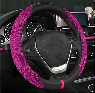 XiXiHao 14.5-15 Cute car Steering Wheel Cover for Women (Purple)