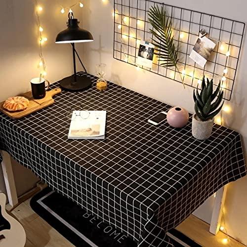Tovaglia in lino di cotone Ins Rete in stile nordico Red Girl Desk Panno Tavolino Tovaglia Rettangolo Cafe Tovaglia Copritavolo 140x220cm 2