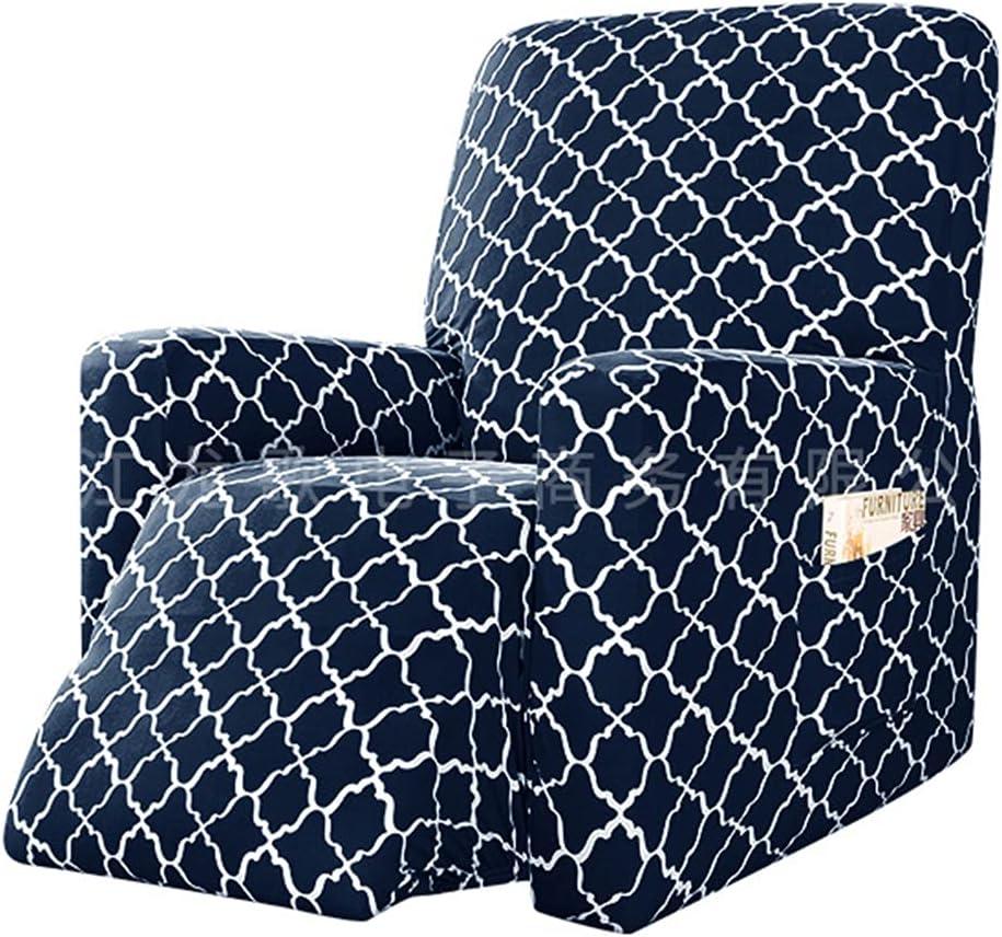 BXFUL Funda de Sillón Relax Elástica Completo Protector para Sillón Reclinable Capuchas elásticas para sillón, Elástico Funda para sillón reclinable (Armada)