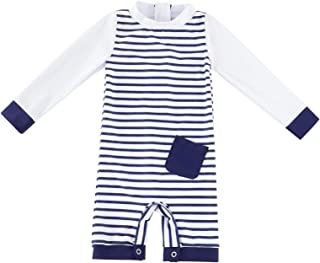 Baby Boy/Girl Swimwear Sunsuit Long Sleeve UPF 50+ Sun Protection One Piece Swimsuit with Snap...