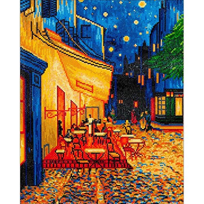 Diamond Dotz Café at Night Van Gogh Artwork, Multicolor