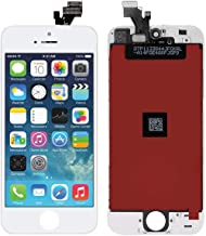 Screen Replacement for iPhone 5 White Touch Screen Digitizer LCD Display Replacement Full Assembly with Repair Tool Kit(iPhone 5,White)