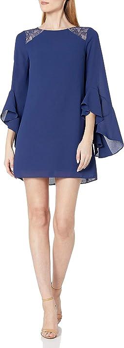 Shift Lace Insert Dress