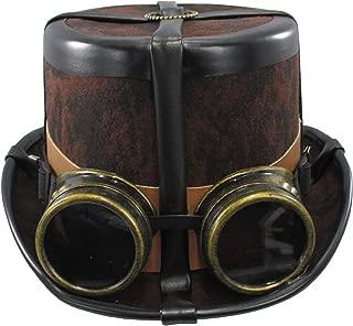 Caufields Brown Steampunk Hat with Black Straps,One Size