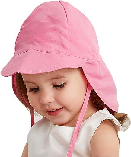 UPF 50+ Baby Sun Hat Adjustable Summer Beach Hat Protection Toddler Sun Hats Cap for Baby Girl Kid Bucket Hat
