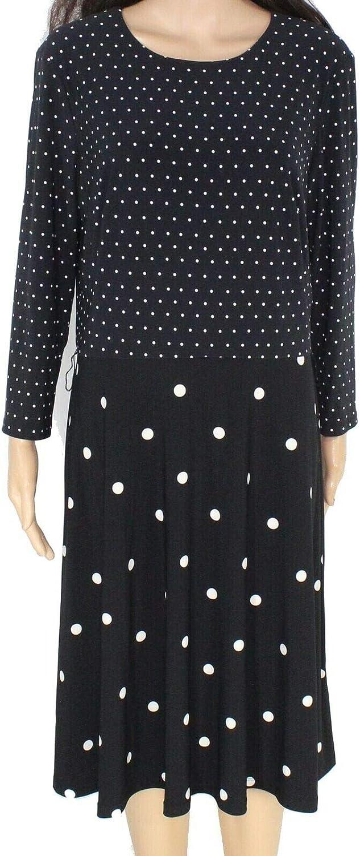 Lauren by Ralph Lauren Women's Polka-Dot Printed Fit & Flare Dress