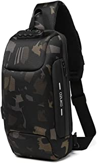 Sling Backpack USB Anti-Theft Men'S Chest Bag Casual Shoulder Bag