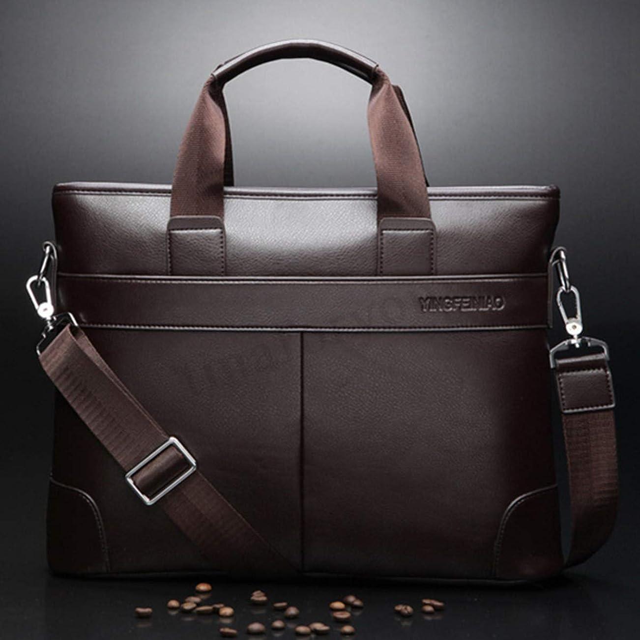 かんたん結果個人的なファッション > バッグ?スーツケース > ビジネスバッグ > メンズ/Men Briefcase Leather Bag Business Shoulder Messenger Satchel Laptop Handbag