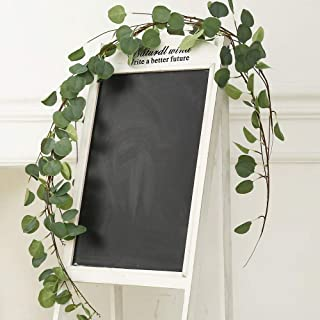 TRvancat Faux Eucalyptus Garland 2 Pack, Artificial Vines Silk Greenery Leaves Garland for Wedding Party Home Decor