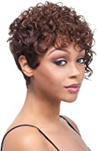 BeiSD Short Brown Blonde Curly Wigs Short Afro Curly Synthetic Wigs For Black Women Short..