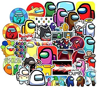 Stickers for Us Game Stickers Style Graffiti Stickers 50 Pcs Crewmate Stickers Not Repeated for Kids Teens Laptop Luggage Fridge Guitar Graffiti Waterproof Best Kid Toy Cartoon Stickers.