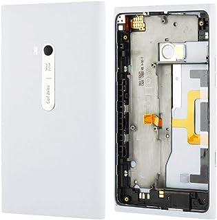 الهاتف المحمول اصلاح قطع الغيار غطاء البطارية الخلفي مع زر الجانب كابل مرن متوافق مع نوكيا لوميا 900