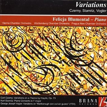Variations: Czerny, Stamitz, Vogler