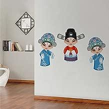 Rawpockets 'Japanese Doll' Wall Sticker (PVC Vinyl, 0.99 cm x 105 cm x 60 cm)