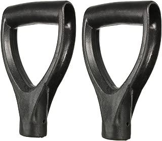 Highmoor Plastic Replacement Snow Shovel D Grip Handle for Shovels, Fork Spade Snow Scoop Handle Digging Raking Tools Hand Protect Garden Accessories 2pcs