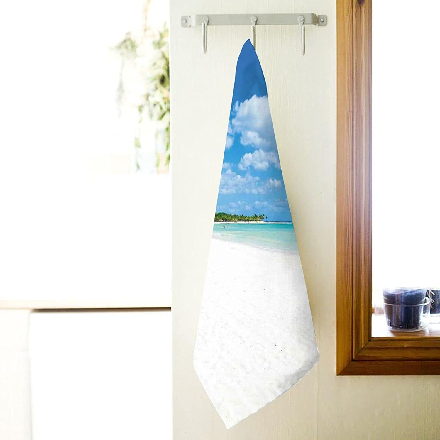 Bath Towel Tropical Exotic Seashore NEW before selling with Sk and At the price Trees Palm Clear