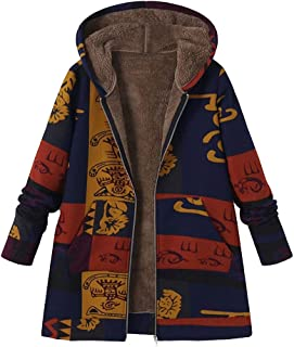 Best printed artificial fur hooded outwears Reviews