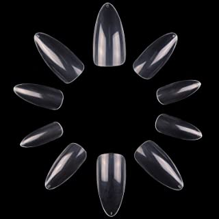 Makartt Stiletto Nail Tips, 500pcs Full Cover False Nails Clear Press on Nails Acrylic Nail Tips Clear Tips for Acrylic Na...