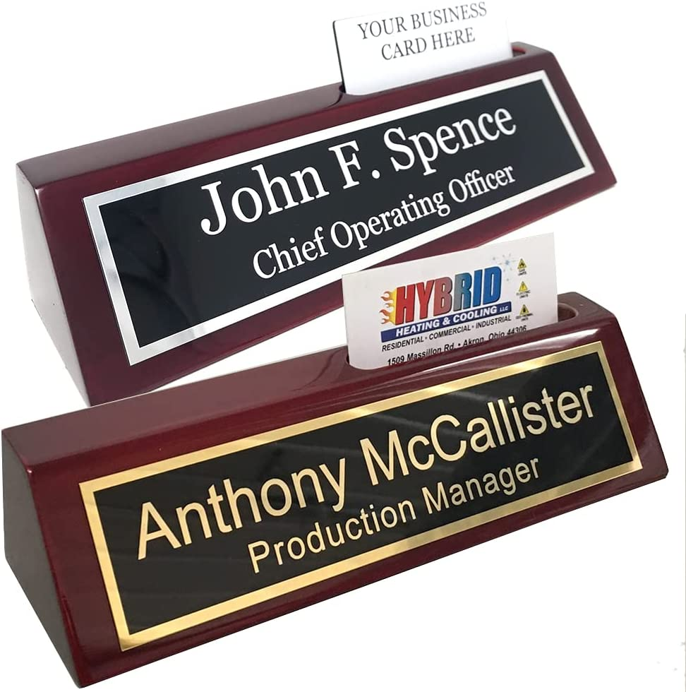 Buy Custom Desk Name Plate with Business Card Holder   Includes ...