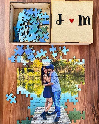Rompecabezas personalizado, regalo de novios, aniversario, cumpleaños, dia de la madre, dia del padre, 100 200 piezas DIY