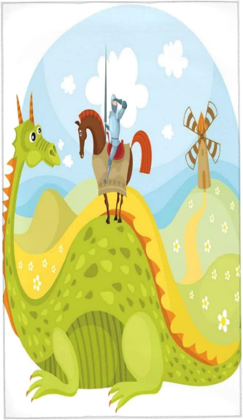 KENADVI Bath Towels Fantasy Knight Al sold out. Don Dra Horse Quixote with San Jose Mall On