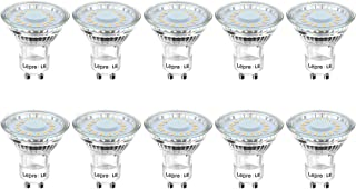 LE GU10 LED Lampe, 4W 350 Lumen LED Leuchtmittel, 2700 Kelvin Warmweiß ersetzt 50W Halogenlampen, 120°Strahlwinkel Reflekt...
