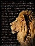 Lion of Judah Wall Chart - Laminated