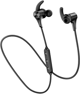 SoundPEATS Bluetooth Headphones IPX6 in-Ear Bluetooth 5.0 Wireless Earphones Magnetic Wireless Earbuds Upgraded Q12 HD (14 Hours Playtime, APTX-HD, CVC 8.0, 10mm Drivers)