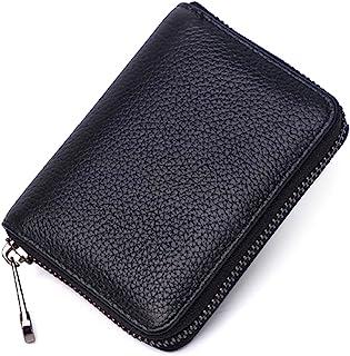 VANANA RFID Blocking Mini Leather 22 Card Wallet Business Case Purse Credit Card Holder