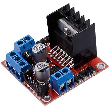 Qunqi L298N Motor Drive Controller Board Module Dual H Bridge DC Stepper For Arduino