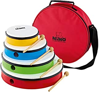 Nino Percussion 4-Piece Hand Drum Set with 6