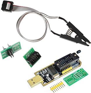 ACEIRMC SOIC8 SOP8 ICテストクリップ 8ピン + CH341A ROMライター SPI Flashライター 24 25シリーズ EEPROM BIOS プログラマー USB-TTLコンバータ (Double Clip+ USB)